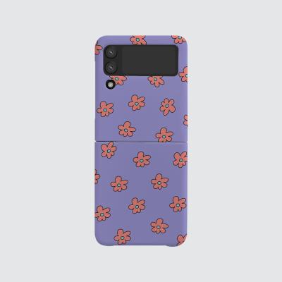168cm(무광-Z플립3) 보라 꽃 패턴