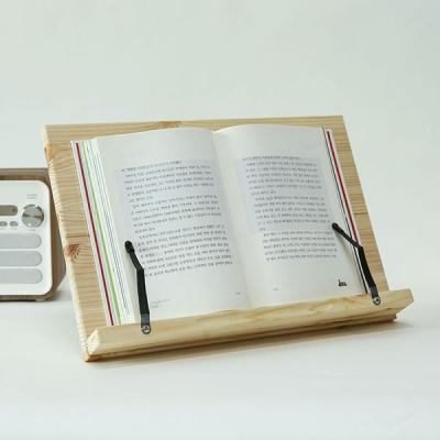 가벼운 휴대용 높이조절 책받침대 원목 굿데이 독서대