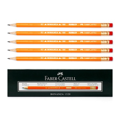 12p 보난자 HB 지우개 연필
