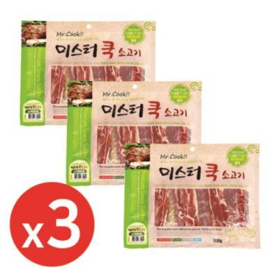 미스터쿡300g 소고기스테이크 x3개 강아지간식