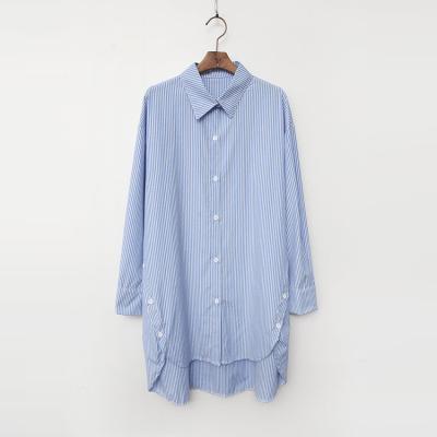 Stripe Button Long Shirts
