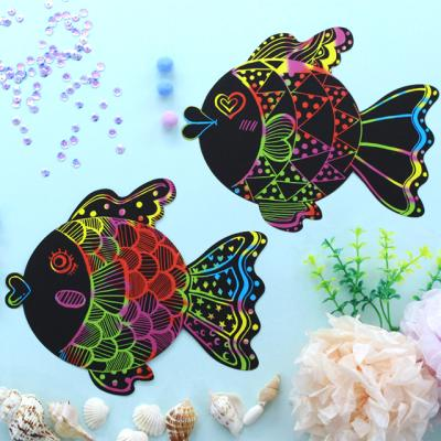 물고기 스크래치 페이퍼 10p