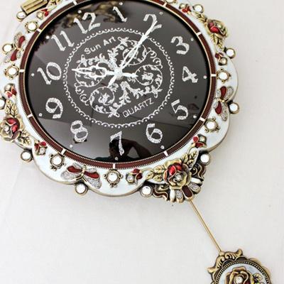 화려한블랙 저소음벽시계 (ksp019)
