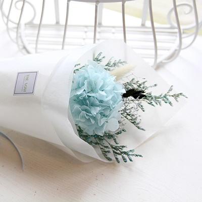 블루수국 꽃다발