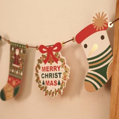 크리스마스 양말 가랜드