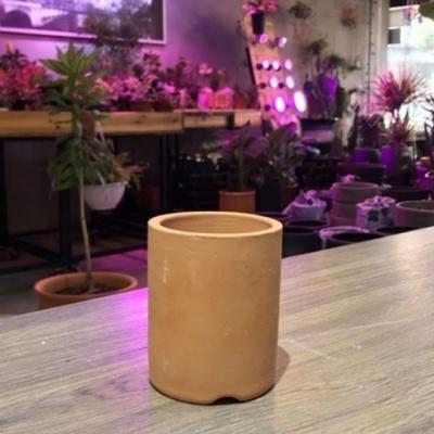 황토빛 원형-필통(소) 8x10cm 토분(갈색화분)