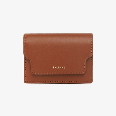 [재입고] REIMS W020 zip Card Wallet CamelBrown