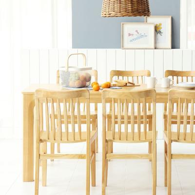 [채우리] 보그 6인 원목 식탁세트(의자)