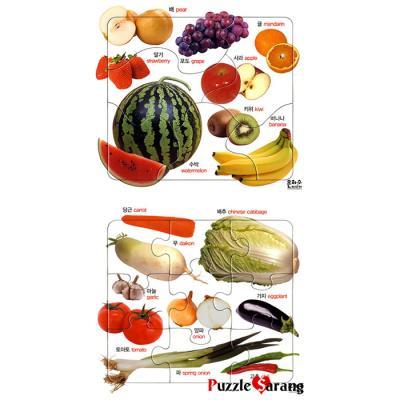 6 9조각 판퍼즐 - 채소와 과일 (2종)