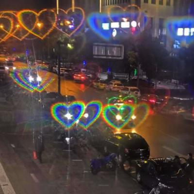 하트불빛 하트 선글라스 특이한 파티 안경 3color