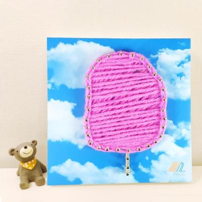 꼬마 솜사탕 스트링아트 만들기 패키지 DIY (EVA)