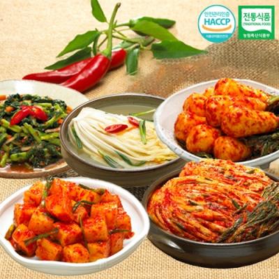 포기김치+깍두기+총각김치+열무김치+백김치x각1kg