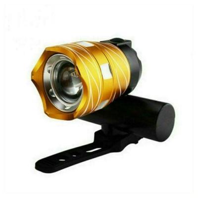 자전거라이트 전조등 T6 골드 크롬줌 USB 충전 LED