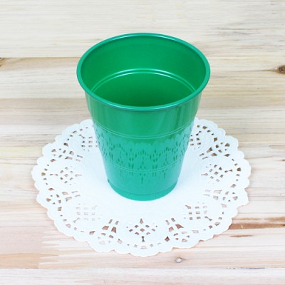 파티용 칼라 컵-그린(10개입)