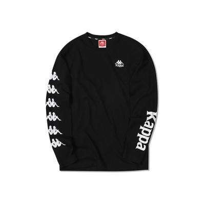 카파 222반다 사이드라인 긴팔 티셔츠 블랙 KJRL399MD