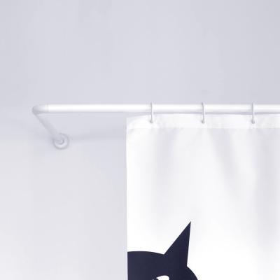게디 ㄱ자 ㄷ자 코너형 커튼봉 화이트 (시공형)