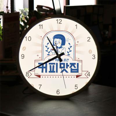ng570-LED시계액자35R_커피맛집