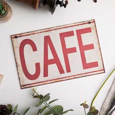 사인보드 안내판 루리앤메리 표지판 레드 cafe 철제