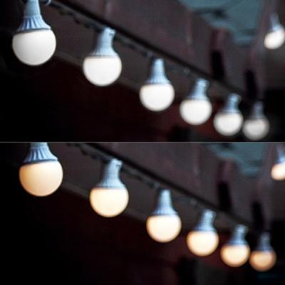 LED 15P 방수용 볼전구 검정선 (웜/백색)