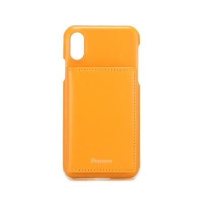 FENNEC LEATHER iPHONE XS POCKET CASE - MANDAIRIN