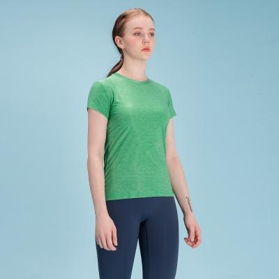 여성 스포츠 슬림핏 티셔츠 DFW5009 그린