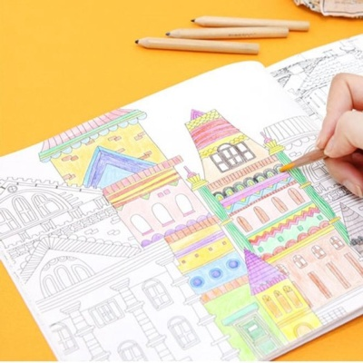 색칠 놀이 노트 컬러 드로잉 컬러링북 미술 공부 2탄