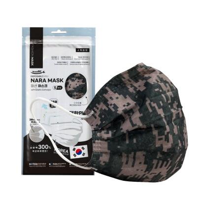 NARA 국산 3중 필터 패션마스크 5매입 (밀리터리)