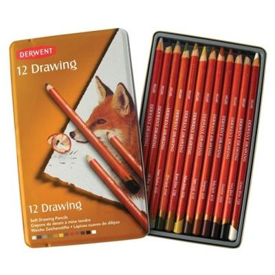 더웬트 드로잉색연필 12색