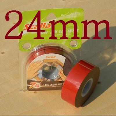 국산 아크릴 점착제를 사용한-24mm*2M의 스칼라 초강력 양면 폼 테이프 HA521-7