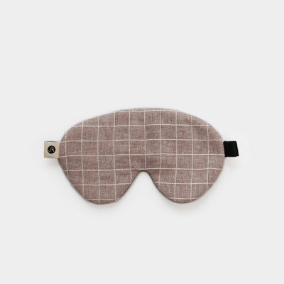 Vernon sleep mask 001 check sand beige