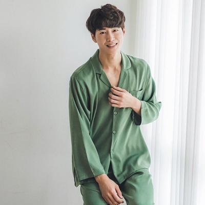 [쿠비카]내츄럴 로얄 샤틴 샤무즈 남성잠옷 BNBR-M061