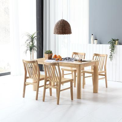 휴치 고무나무 원목 식탁 세트 4인용 의자형 B