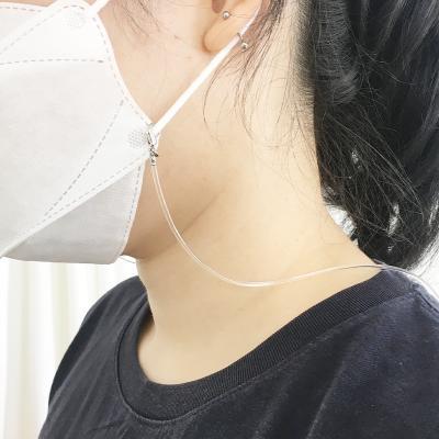실리콘 투명 마스크 스트랩 목걸이 줄 얇은 성인 걸이
