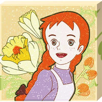 빨강머리 앤 행복한 미소 (캔버스) 보석십자수 25x25