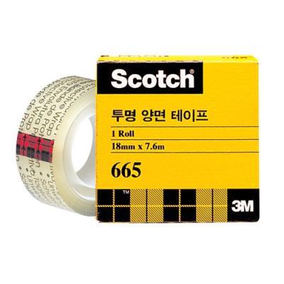 투명 양면 테이프 리필 665 18mm
