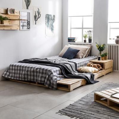 접이식 파렛트 원목 침대 1500X2000