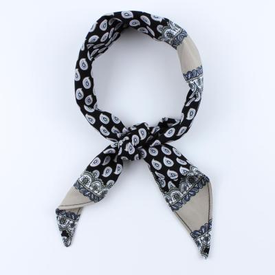 페이즐리 블랙 반다나 스카프 N595