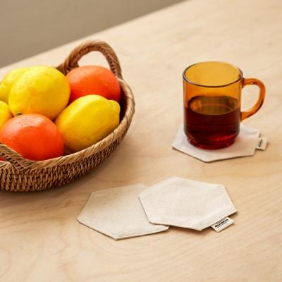 블랭크 광목원단 티코스터 / 컵받침(RM 221001)