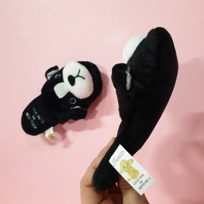 Love Pet Squeaky Boston Terrier slipper바스락삑삑