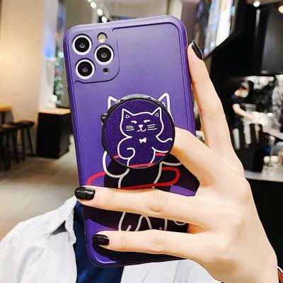아이폰11 PRO X SE2 실리콘 케이스 고양이 그립톡세트