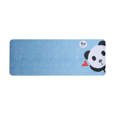 와이드 롱마우스패드(판다)(블루) / 논슬립마우스패드