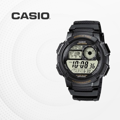 카시오 군인 군용 전자 빈티지 손목시계 AE-1000W-1A