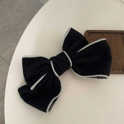 빅사이즈 리본 대왕 집게핀 머리핀 헤어핀 색상 블랙