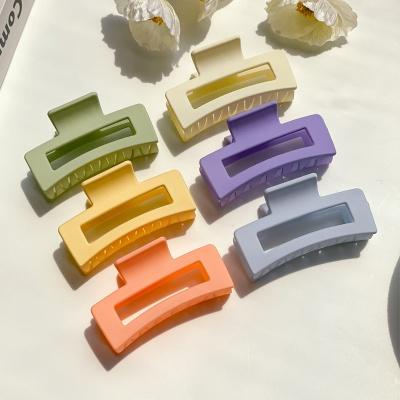 비비드 무광 직사각형 헤어 집게핀 6color