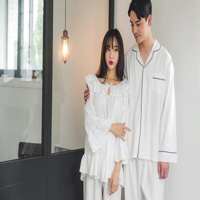 [쿠비카]밑단 나팔 기모 투피스 커플잠옷 WM129