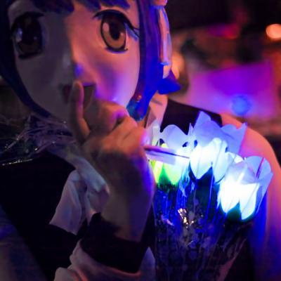 LED 장미꽃 (소/ 화이트)