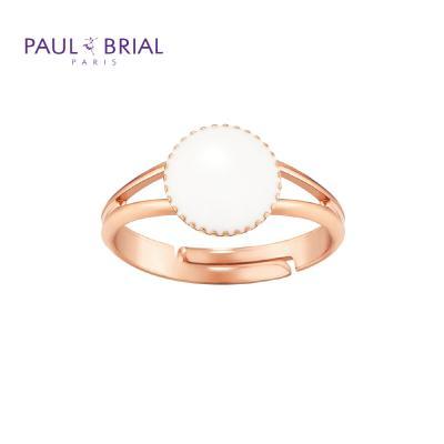 폴브리알 PYBR0107 (PG) 서클 투라인 반지 WHITE