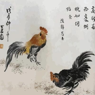 [DIY명화]Q1341 신윤복풍속도 닭 size 40*50cm
