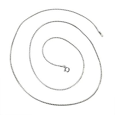 [CC000N0D13] 1.3mm 커브 체인 은목걸이