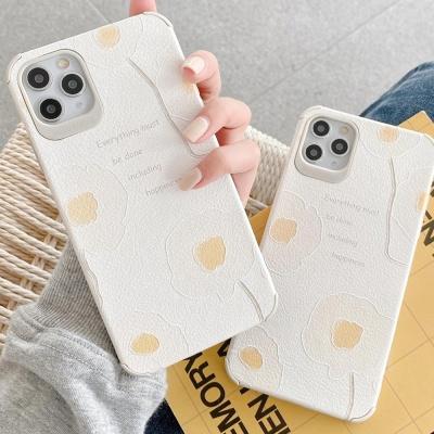 아이폰11 PRO MAX SE2 8 XR 플라워 사각 실리콘케이스